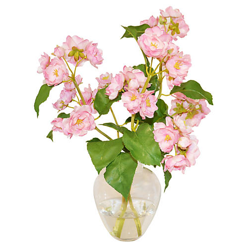 "15"" Apple Blossoms in Bouquet, Faux"