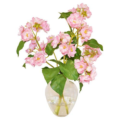 "15"" Apple Blossoms in Bouquet, Faux"