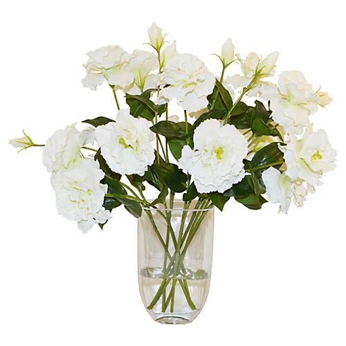 "18"" Lisianthus in Vase, Faux"