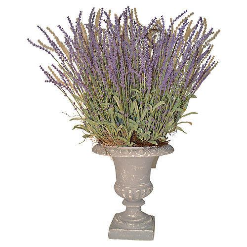 "29"" Lavender in Urn, Faux"