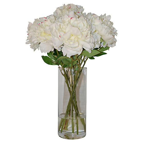 "24"" Peonies in Vase, Faux"