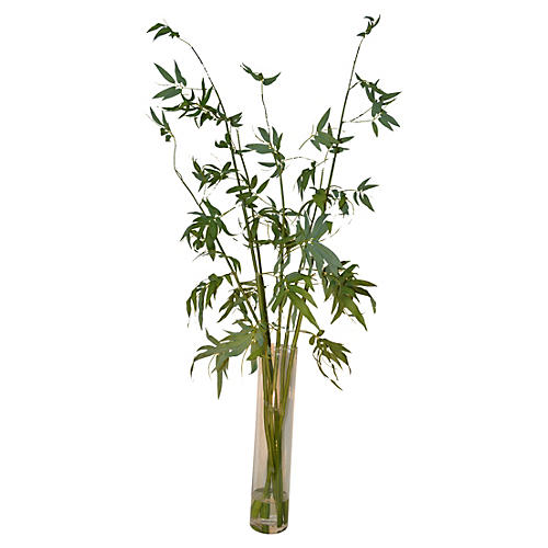 "67"" Bamboo in Water, Green"