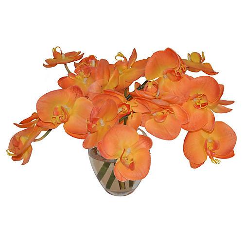 """9"""" Orchid Arrangement, Faux"""