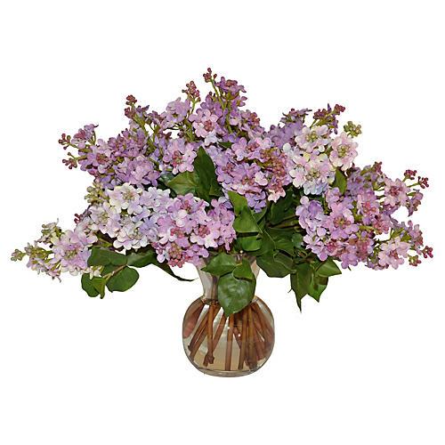 """15"""" Lilac Arrangement, Faux"""