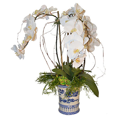 "30"" Orchid Arrangement, Faux"
