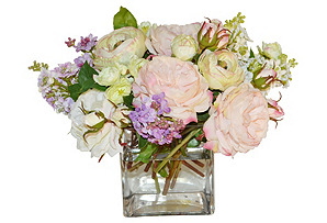 "12"" Flower Arrangement in Vase, Faux"