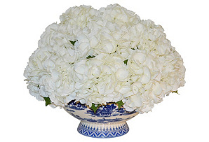 "22"" Hydrangea Arrangement in Vase, Faux"