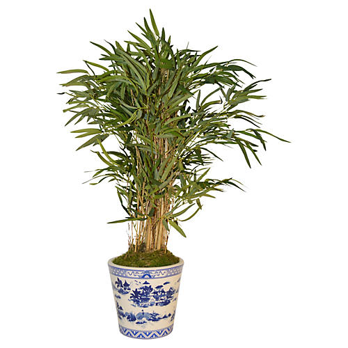 "42"" Bamboo Palm Tree in Planter, Faux"