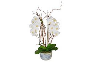 """33"""" Orchid Arrangement in Vase, Faux"""