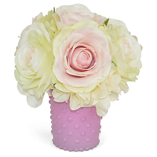 "5"" Holborn Rose Arrangement, Faux"
