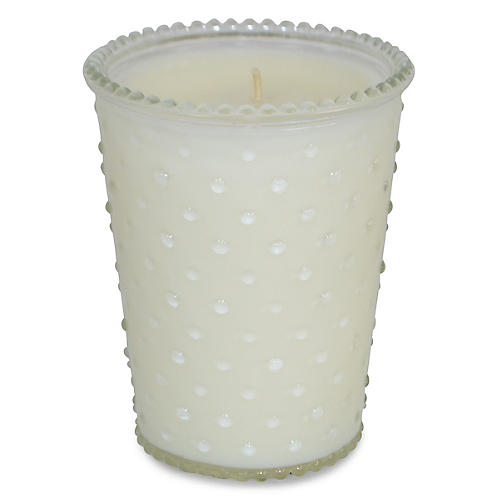 Hobnail Candle, Gardenia