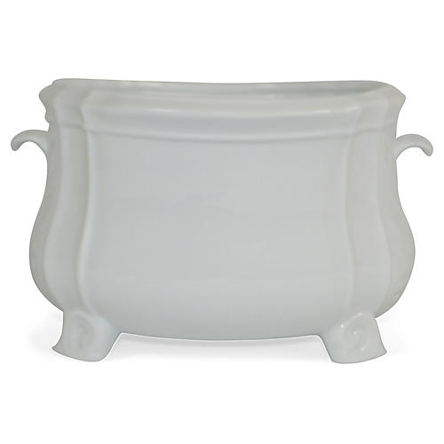 "10"" Limoges Cachepot, White"