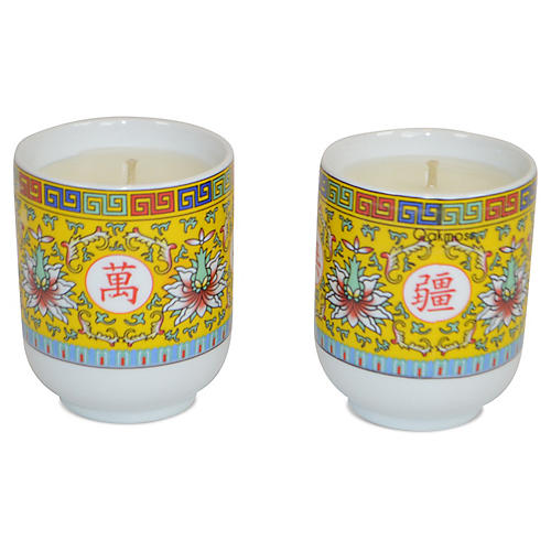 S/2 Asian Candles, Lavender