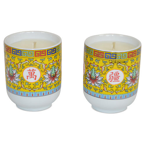 S/2 Asian Candles, Orange Blossom
