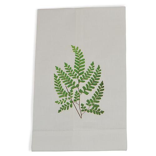 S/2 Maidenhair Fern Guest Towels, Green