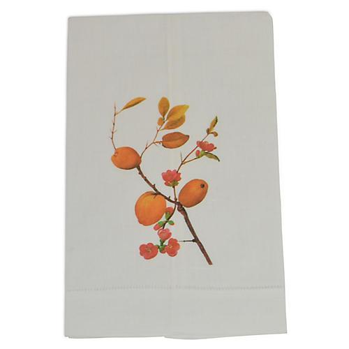 S/2 Quince Guest Towels, Orange