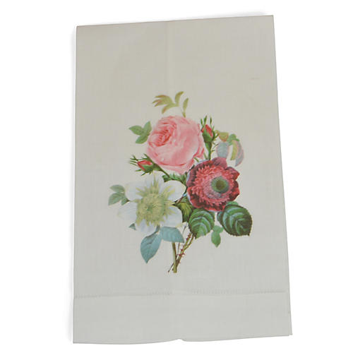 S/2 Anemone Clematis Guest Towels, Pink