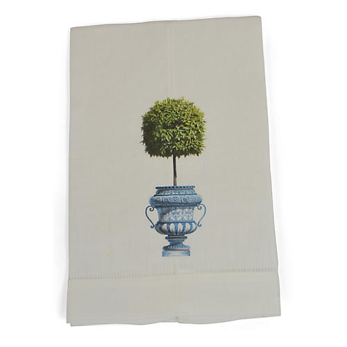 S/2 Topiary Guest Towels, Green