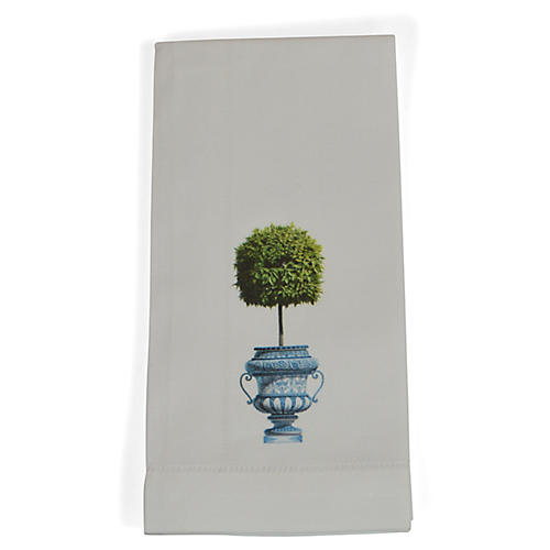 S/4 Topiary Dinner Napkins, Green