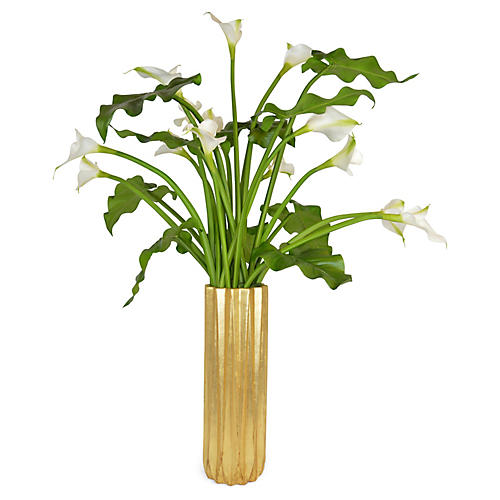 "49"" Calla Lily Arrangement, Faux"