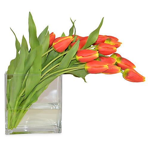 "19"" Tulip Arrangement, Faux"