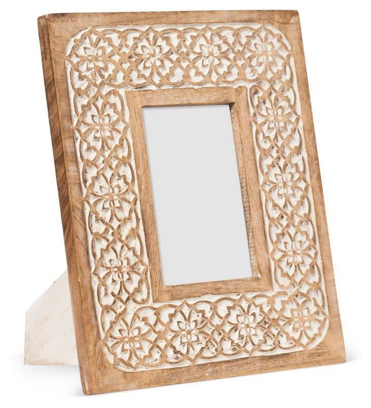 Mango-Wood Frame, 4x6, Gold
