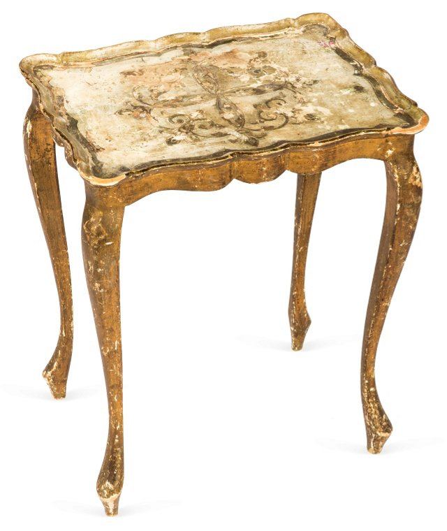 Antique Florentine Side Table