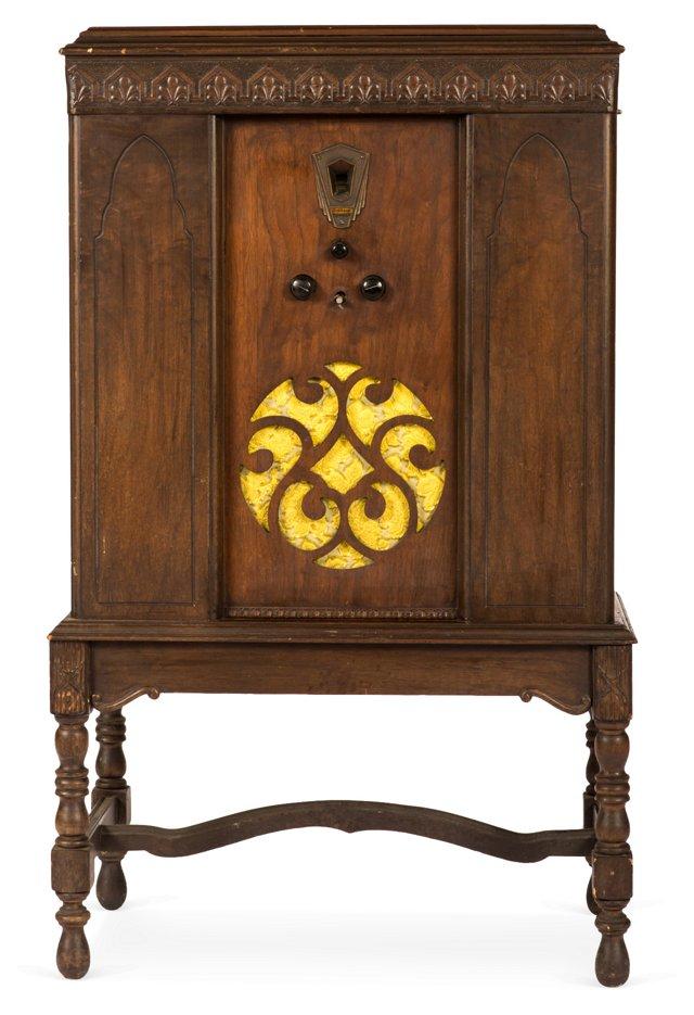 Antique Wood Stand Radio