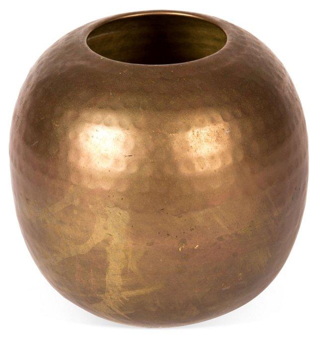 Hammered Copper Globe Vase