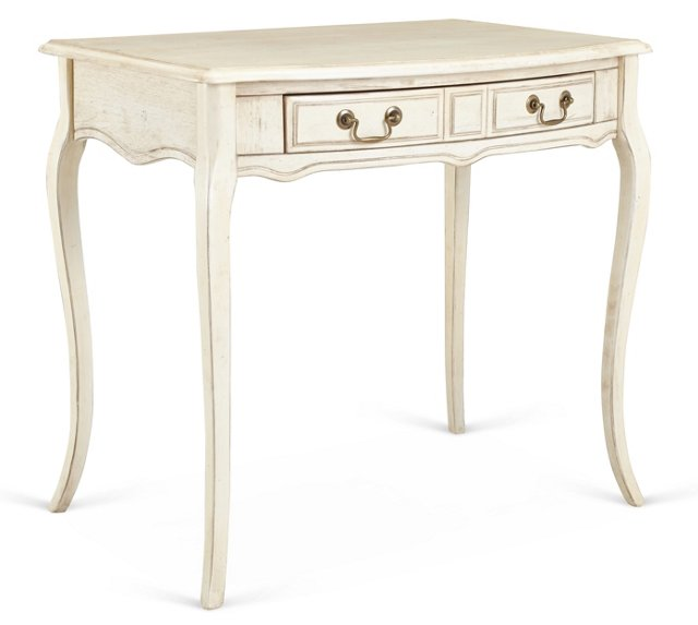 Lilien Console, Distressed Cream