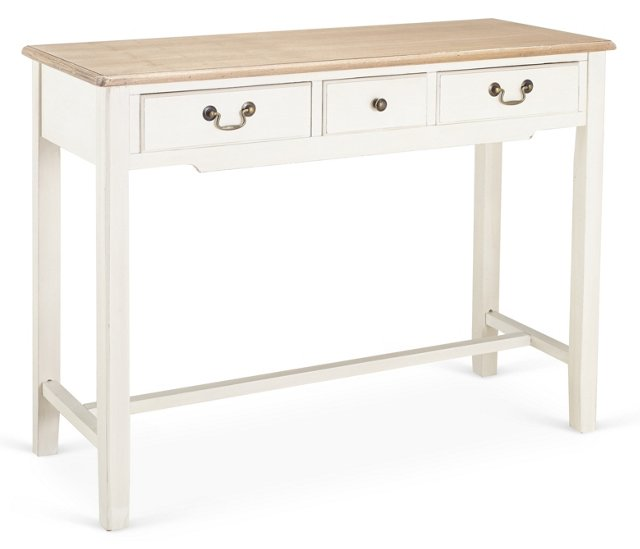 Kate Console, White/Natural