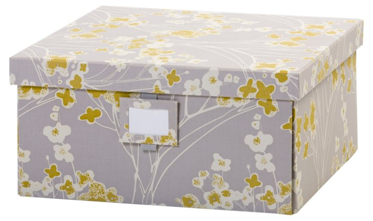 S/2 Large Branch Boxes, Slate