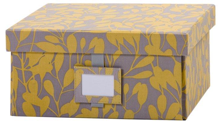 Medium Leaf Box, Slate