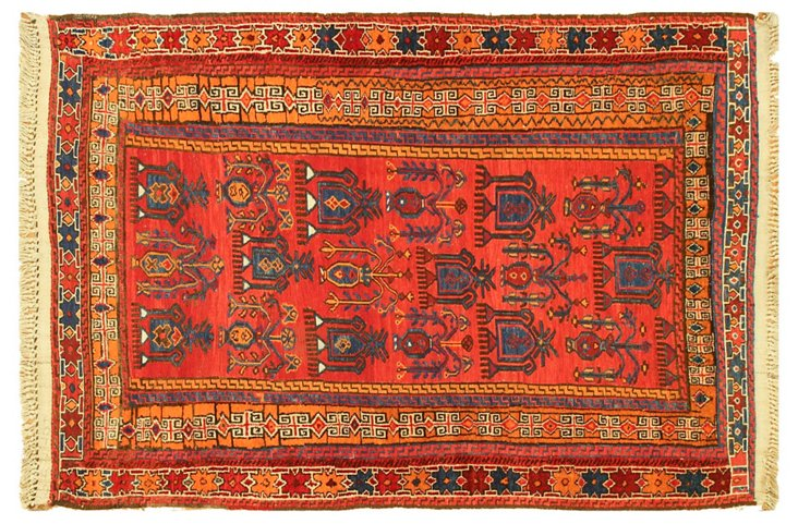 """4'3""""x6'3"""" Asher Rug, Red"""