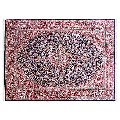 "9'2""x13'8"" Lisa Rug, Red/Blue"