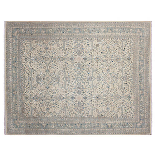 "9'x11'5"" Rylee Rug, Ivory/Gray"