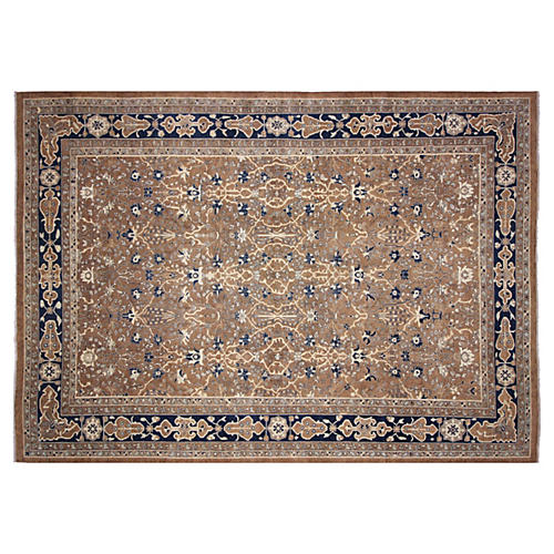 "12'8""x17'10"" Heidi Rug, Brown/Blue"