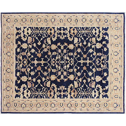 "9'x11'5"" Urvakhsha Rug, Blue/Light Brown"