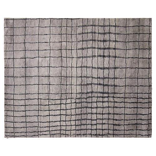 8'x10' Moroccan Achraf Rug, Gray