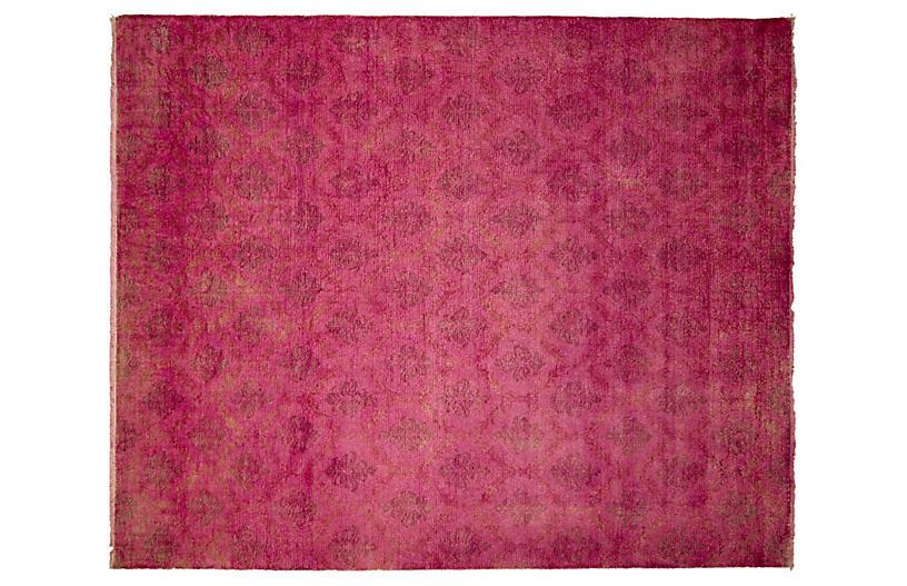 9'x12' Overdyed Oushak Sanaz Rug, Pink