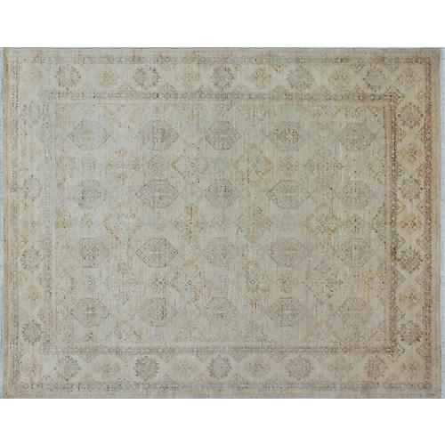 "7'11""x9'11"" Yousafi Rug, Ivory/Gold"
