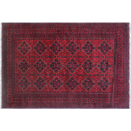 """6'7""""x9'8"""" Khamyab Rug, Red"""
