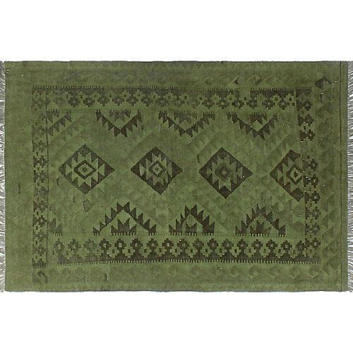 "4'1""x6'4"" Ardelia Handwoven Rug, Green"
