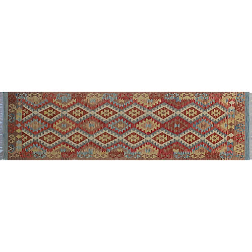 "2'11""x9'10"" Ayşe Handwoven Runner, Brown/Red"