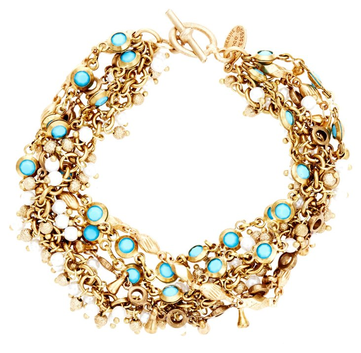Madame Bracelet, Turquoise & Pearl