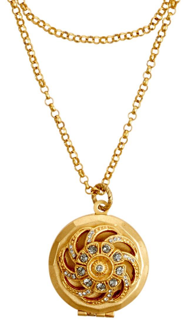 Swirl Cut Locket Necklace