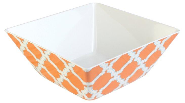Melamine Cortina Serving Bowl, Orange