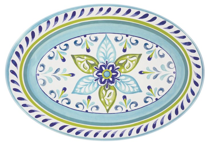 Melamine Oceanside Oval Platter