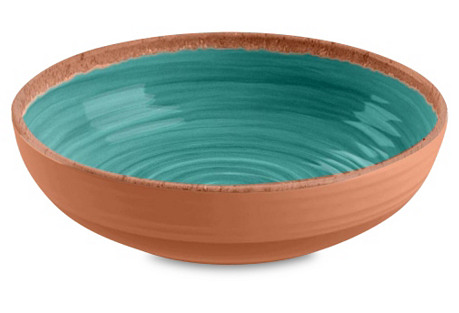 S/4 Rustic Bowls, Turquoise