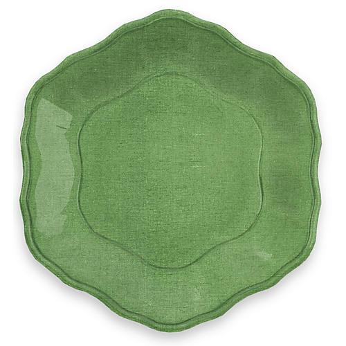 S/6 Savino Melamine Dinner Plates, Green